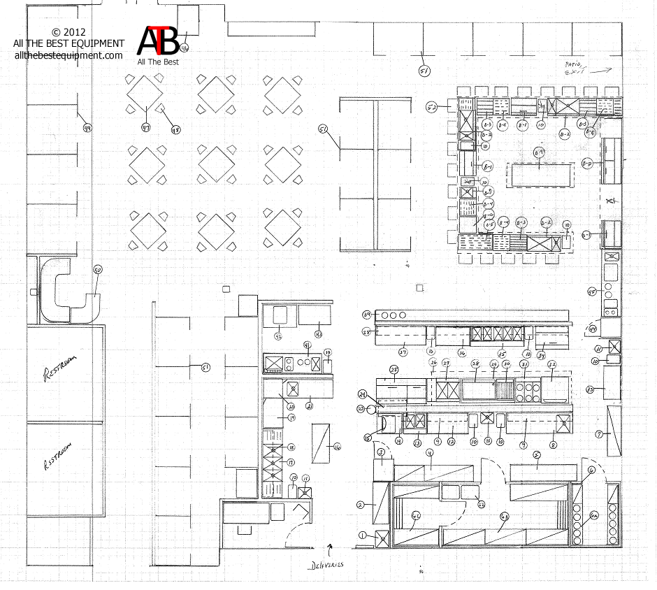 open kitchen restaurant layout afreakatheart