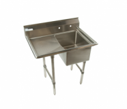 KTI ECS-1DR (or L) 1 Compartment Sink with Drainboard