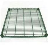 KTI GR 18x30 Green Epoxy Wire Shelf