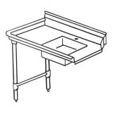 KTI SDT-72L (R) Soiled Dish Table