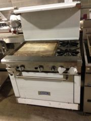 "Royal Range 2 Burner / 24"" Griddle / Oven Range"
