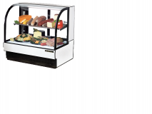 True TCGR-50CD Curved Glass Front Refrigerated Deli Case