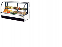 True TCGR-77CD  Cuved Glass Front Refrigerated Deli Case