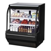 Turbo Air TCDD-48H-W(B)-N Curved Gass Front Refrigerated Deli Case