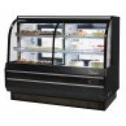 Turbo Air TCGB-60CO-W(B)-N  Curved Glass Bakery Case (Dual Zone)