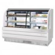 Turbo Air TCGB-72CO-W(B)-N  Curved Glass Bakery Case (Dual Zone)