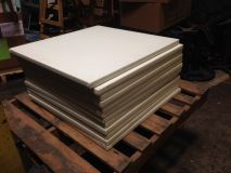 "30"" Table Tops (White Vinyl Covered)"