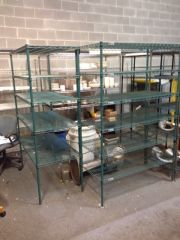 Green Epxoy Wire Shelving