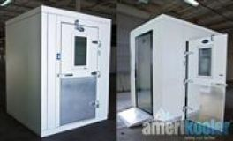Quick-Ship 6' x 6' Amerikooler Walk-in Cooler, with Bohn pre-assembled Refrigeration Unit